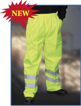 Children's high visibility trousers - yellow reflective waterproof trousers for children
