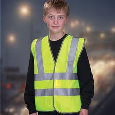 High visibility waistcoats for children and adults. Can be personalised with your logo.