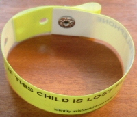 Identity wristbands (identification wristbands) - id bands for children and adults