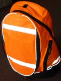 High visibility rucksacks and other bags.