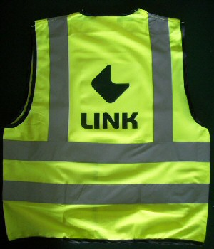 Printed high vis waistcoats (personalised high vis vests) - your logo printed on high visibility waistcoats